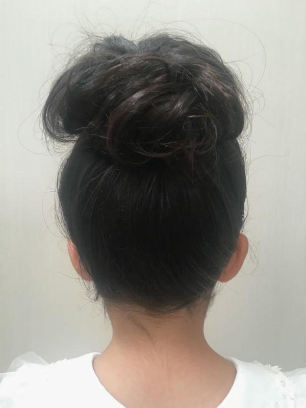 かのこをつける前の髪