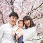 【撮影レポート】1歳のお誕生日フォトは飾りつけたご自宅と桜咲く公園で♡
