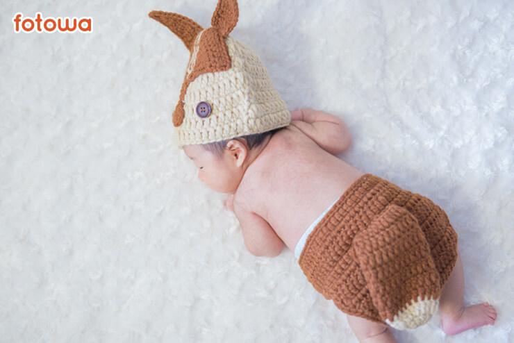 ニューボーン_動物の衣装を着た赤ちゃん